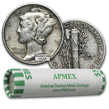 90% Silver Mercury Dimes - $5 Face Value Roll - Extra Fine - Sku #44583