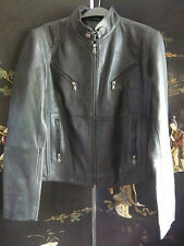 BNWT AVIA TRIX XL CAFE RACER STYLE BLACK LEATHER BIKER JACKET 14