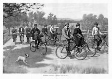 CYCLE TOURING FOR EXERCISE AND PLEASURE TOURISTS BY A. B. FROST EARLY BICYCLE