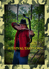 Survival Takedown Bow Black Tactical Recurve Bow (40#)