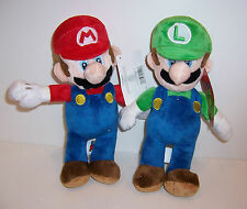 "SET/2 Nintendo SUPER MARIO BROS MARIO & LUIGI Large 11"" PLUSH DOLLS Doll Toy NWT"