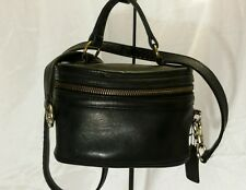 Vintage Coach Black Cowhide Leather Trail Bag #9955~Made in USA~Circa 1994