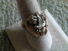 Goldfilled Sterling Silver Mens Ring w/Silver Cast Eagle  Navajo Made