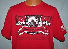 DIERKS BENTLEY 2013 Miles & Music Concert & Bike Ride RED T-SHIRT L Motorcycles