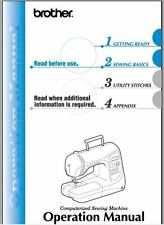 Brother PC420PRW Sewing Machine Instruction Manual Users Guide PDF on CD