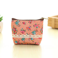 v: e Women Canvas Wallet Small Clutch Zip Card Coin Holder Pinkil