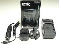Lemix UK & EU Mains & Car Battery Charger - JVC VF808 VF815 VF823