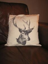 "Stag Cushion Cover -100% cotton - 18"" x 18"" - cool gift"
