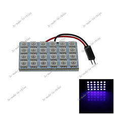 1X Purple Ultraviolet UV 24 5050 LED Festoon Box Light Panel Interior Bulb 12V