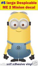 N5 LARGE Despicable me 2 minions Funny Decal sticker car vw van jdm kids bedroom