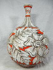 "Well shaped 60´s Italian ""Alla Moda"" pottery Fratelli Fanciullacci vase 35 cm"