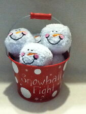 SNOWBALL FIGHT IN A BUCKET - ONE RED BUCKET --BRAND NEW -NEW LOWER PRICE