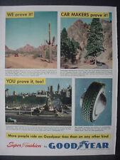 1951 Philadelphia PA Cheyenne Canyon CO Good Year Tire Vintage Print Ad 12342
