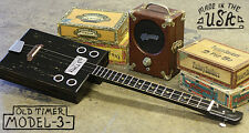 Old Timer ~Cigar Box guitar~  Model -3- Bottleneck slide 3 string Blues dobro