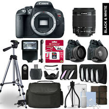 Canon EOS Rebel T5i Digital SLR Camera 3 Lens Kit + 64GB Multi Accessory Bundle