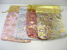 "100 Organza Silky Jewelery Pouches String Bag 6 ""x 8"" For Gift Coin Mix Colour"