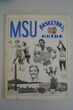 Vintage Basketball Media Press Guide Morehead State University 1974 1975