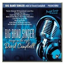 Big Band Singer: Songs in the Style Of David Campbell  Karaoke CDG  2011