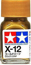 O TAMIYA COLOR GLOSS ENAMEL HOBBY PAINT NEW 10ML X-12 GOLD LEAF