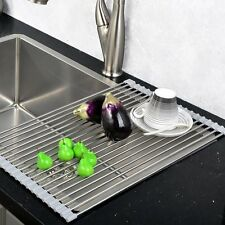 VCCUCINE Best Large Stainless Steel Kitchen Sink Roll Up Dish Drying Rack, Over