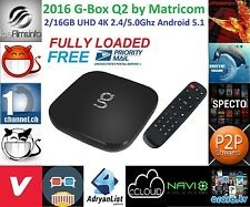 G-Box Q2 by Matricom 2G/16G UHD 4K Android 5.1 KODI 16.1 FULLY LOADED