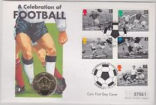 1996 BASE METAL £2 FOOTBALL COIN & STAMP COMMEMORATIVE COVER
