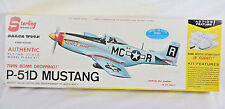 Sterling Models P-51D Mustang Balsa Wood Model Airplane Kit Control Line RC 24""