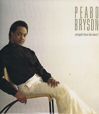 PEABO BRYSON straight from the heart LP 33 R&B Soul Music Album VG+ Stereo 1984