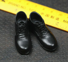 █ Toys City 1/6 Black Shoes for Custom Narrow Shoulder Body ZY Suit Hot █