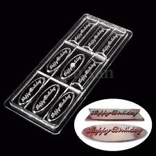 9 Happy Birthday Clear PC Polycarbonate Chocolate Candy Cake Tray Mold Mould DIY