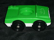 Fisher Price Little People Vintage Green & White Luggage Suitcase Car Vehicle
