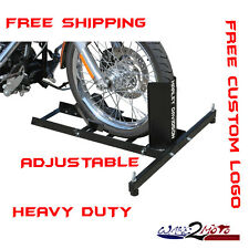 Motorcycle Stand Wheel Chock Trailer Stop Harley Davidson Road King Sportster