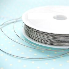 6METER SILVER COLOUR TIGER TAIL BEADING WIRE 0.45MM THICK STRING CORD JEWELLRY