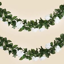 6 ft 3D White Chain SILK ROSES Garland Wedding Flowers Bouquets SALE