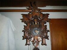 "VINTAGE MUSICAL DANCERS CUCKOO CLOCK ONE DAY ""BEAUTY"""