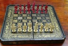 Antique 19th Century Chinese Chess Set