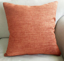 45cm x 45cm Home Decorative Orange Linen Look Cushion Cover