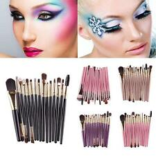15pcs Maange Make Up Brush Foudation Eyeshadow Eyebrow Mascara Lip Sponge set UK