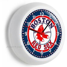 BOSTON RED SOX BASEBALL TEAM LOGO WALL CLOCK MAN CAVE LIVING ROOM GARAGE DECOR