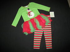 "NEW ""Frosty Snowman"" Tutu Pants Girls Clothes 24m Christmas Winter Outfit Baby"