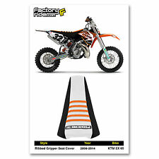 2009-2015 KTM SX 50 SEAT COVER Ribbed GRIPPER Black/White/Orange by Enjoy MFG