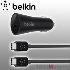 GENUINE BELKIN 27W 3A USB-C Car Charger + 1.2m USB C Cable Fast