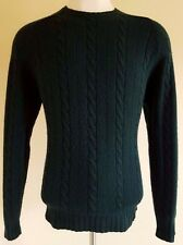 POLO Golf RALPH Lauren SWEATER Large GREEN Cable KNIT Wool CASHMERE Blend MENS L