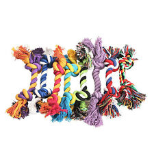 Fashion Cute Puppy Dog Pet Toy Cotton Braided Bone Rope Chew Knot Play Toy #L