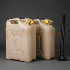 *TWO* Scepter MFC 20L/5Gal AmSand/Tan & Diesel PourSpout -Military Fuel Gas Can