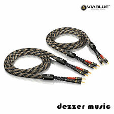 ViaBlue 2x 3,00m SC-4 Single Wire T6s Banana HIGH END Lautsprecherkabel/ 3...TOP