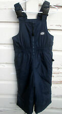 L.L. Bean L L Kids Boys Black Bibs Overalls Snowsuit Snow Ski Suit Size XXS 4