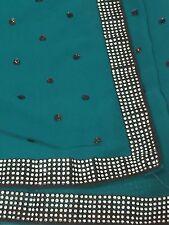 Designer Saree Blouse Set Mumbai  Pure Georgette Sequin Crystals SAREE DIWALI