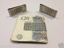 Stainless Steel Metal Silver Money Cash Note Thin Holder Clip Gift Wallet NEW