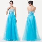 Beaded STRAPLESS Long Dress Party Bridesmaid Formal Cocktail Prom Dresses Gown